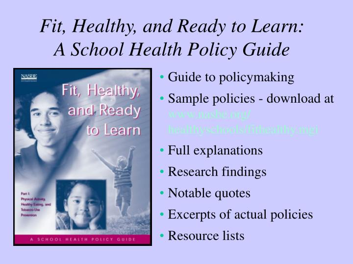 Fit, Healthy, and Ready to Learn:
