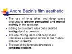 andre bazin s film aesthetic