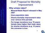 draft proposal for mortality improvement1