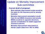 update on mortality improvement sub committee1