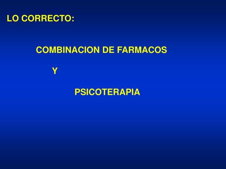 LO CORRECTO:
