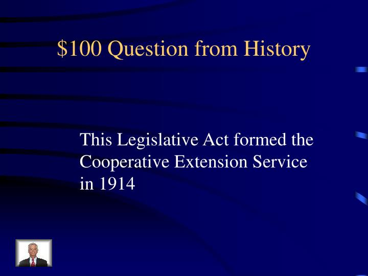100 question from history