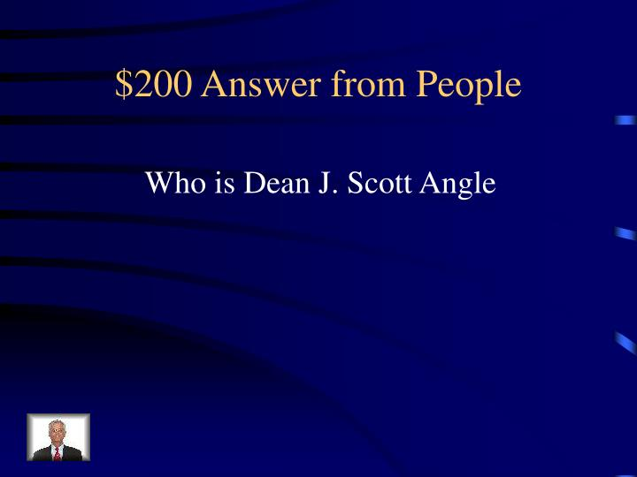 $200 Answer from People