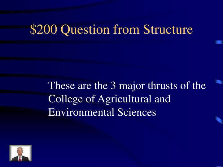 $200 Question from Structure