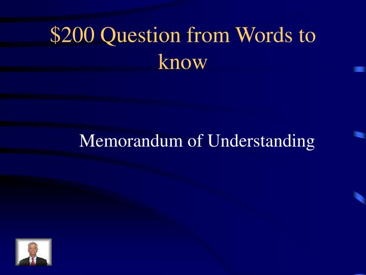 $200 Question from Words to know