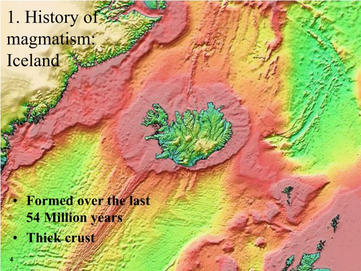 Formed over the last 54 Million years