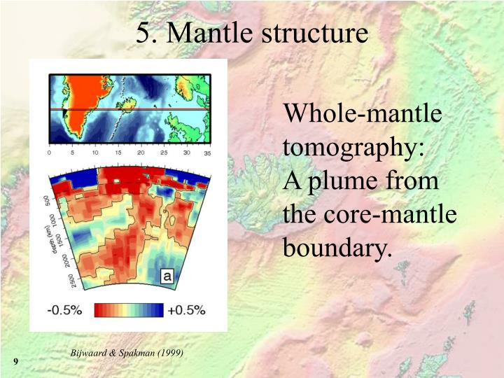 5. Mantle structure