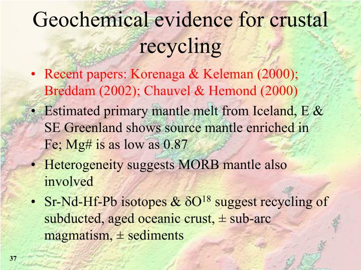 Geochemical evidence for crustal recycling