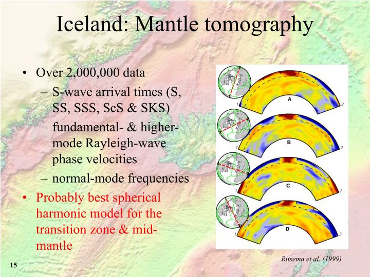 Iceland: Mantle tomography