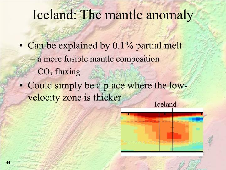 Iceland: The mantle anomaly