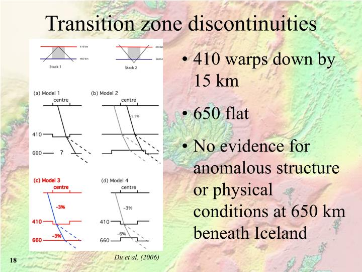 Transition zone discontinuities