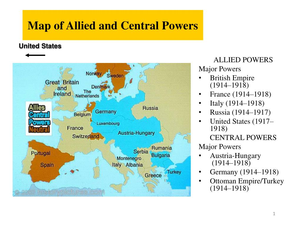 Ppt Map Of Allied And Central Powers Powerpoint Presentation Free Download Id 7053294