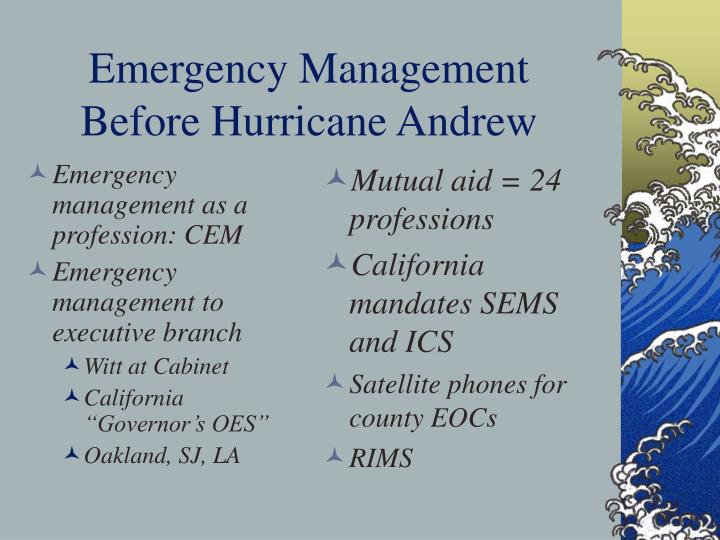 Emergency management as a profession: CEM