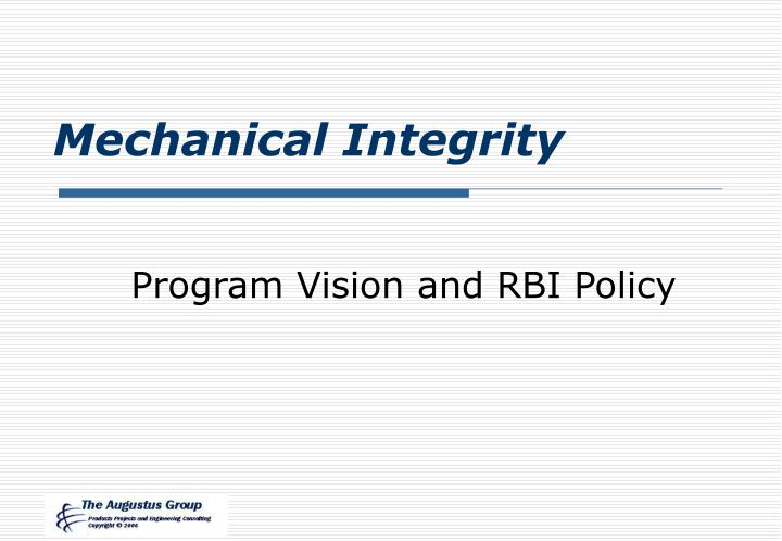 mechanical integrity n.