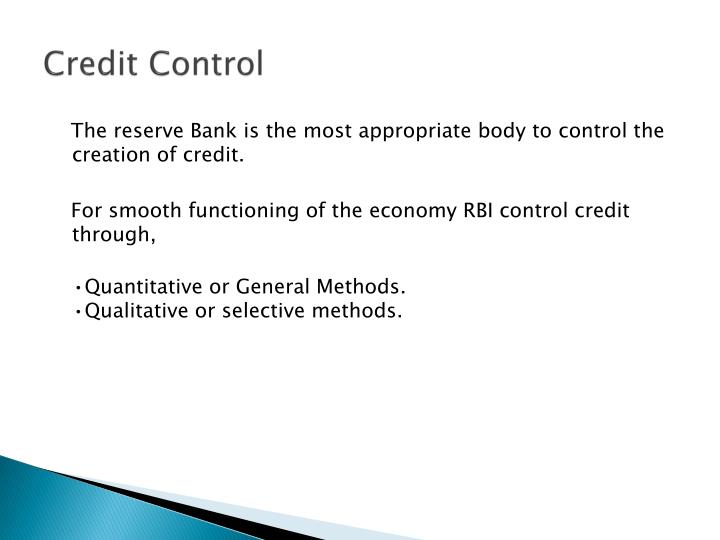 difference between qualitative and quantitative methods of credit control