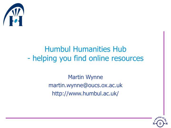 Humbul Humanities Hub