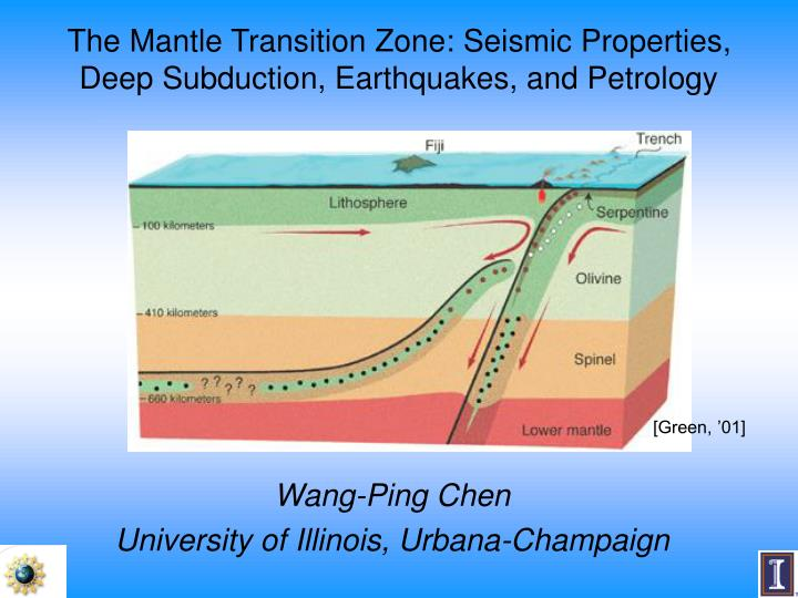 the mantle transition zone seismic properties deep subduction earthquakes and petrology n.