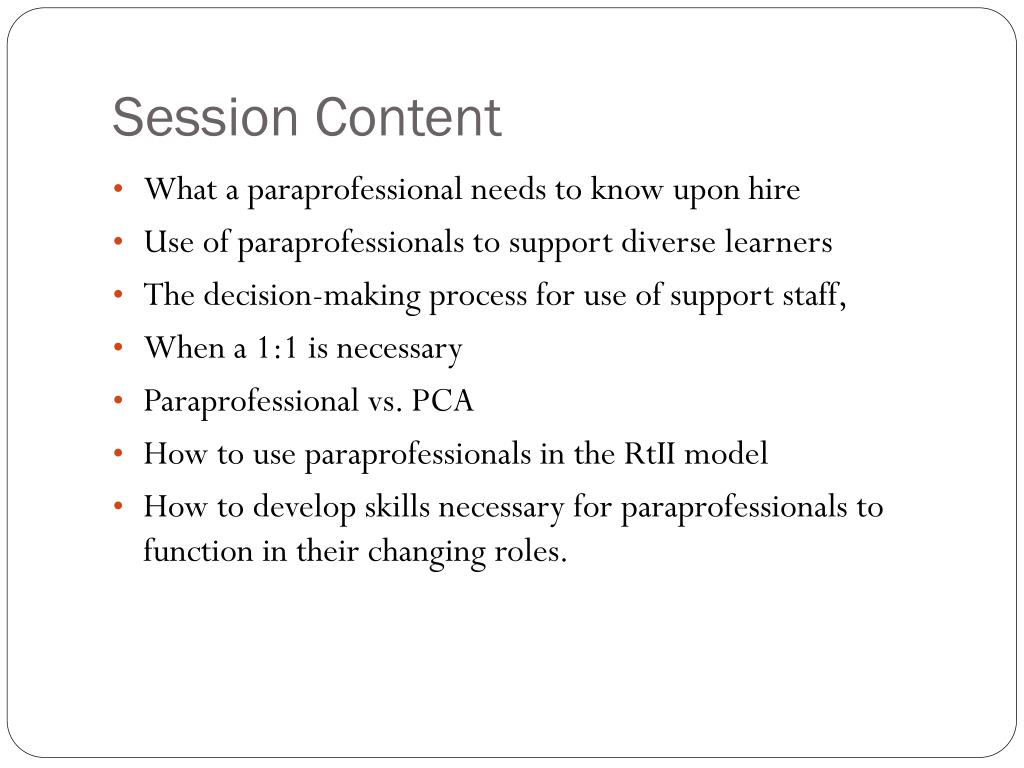 When Is Use Of Paraprofessionals >> Ppt Effective Use Of Paraprofessionals Powerpoint Presentation