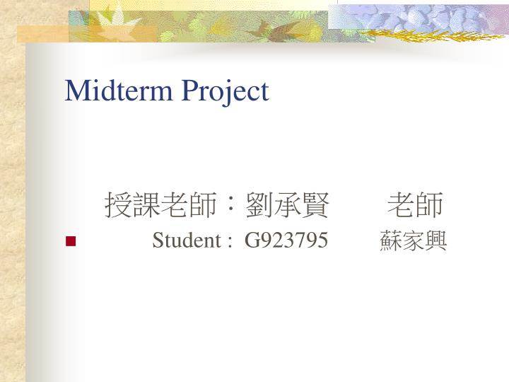 midterm project n.