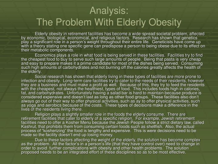 "an analysis of the problems of obesity in america Obesity has become a serious health problem in the united states: nearly 35% of americans have obesity obesity is not just a problem of ""girth control"" it is."