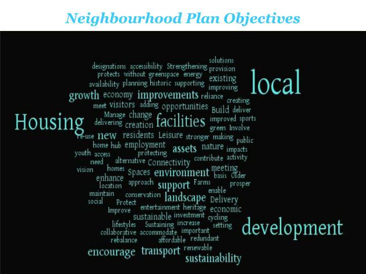 Neighbourhood Plan Objectives