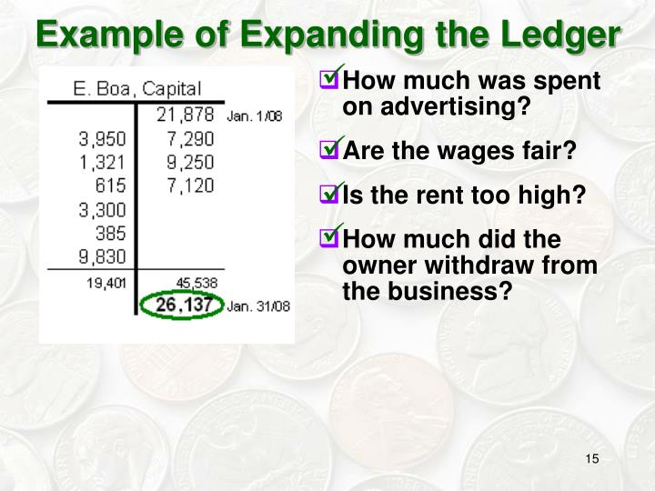 Example of Expanding the Ledger