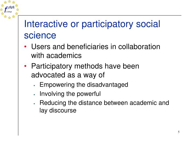 Interactive or participatory social science