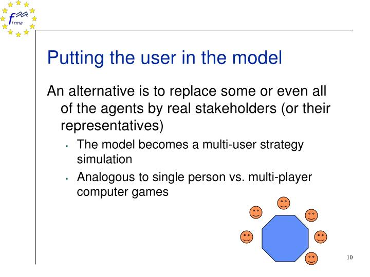 Putting the user in the model
