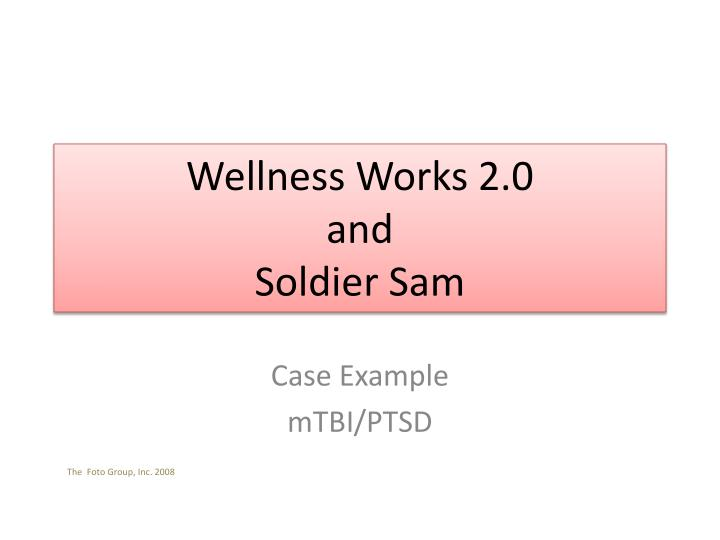 wellness works 2 0 and soldier sam n.