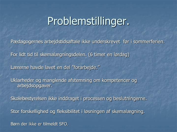 Problemstillinger.