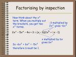 factorising by inspection6