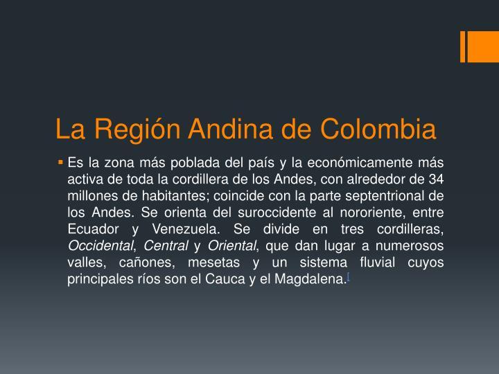 La regi n andina de colombia