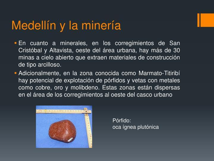 Medellín y la minería