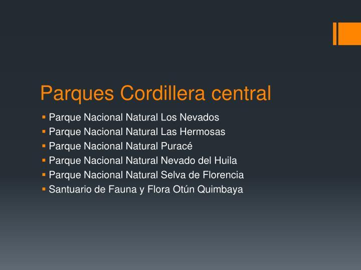 Parques Cordillera central