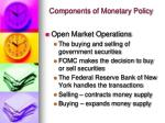 components of monetary policy
