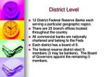 district level