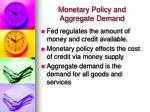 monetary policy and aggregate demand