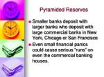 pyramided reserves