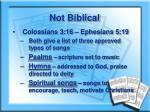 not biblical