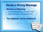 sends a wrong message1