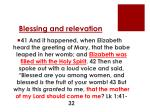 blessing and relevation