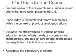 our goals for the course