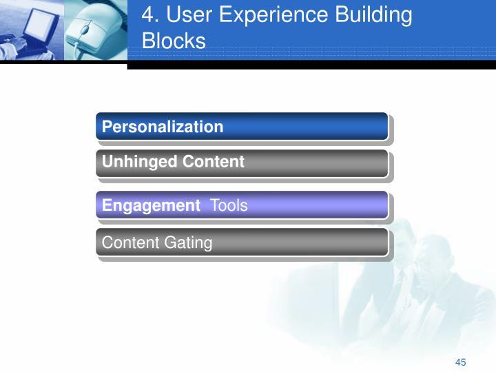 4. User Experience Building Blocks