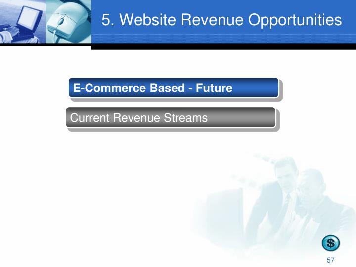 5. Website Revenue Opportunities