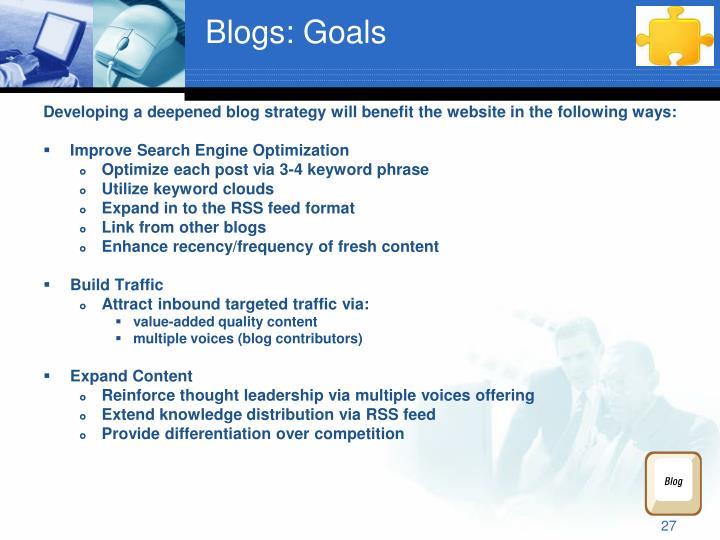 Blogs: Goals