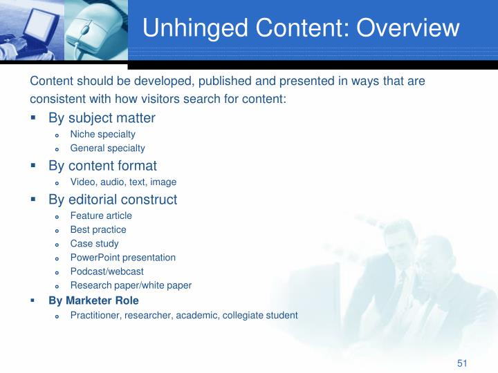 Unhinged Content: Overview
