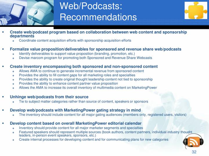 Web/Podcasts: Recommendations