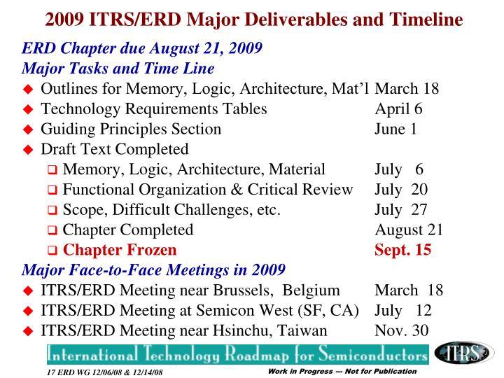 ERD Chapter due August 21, 2009
