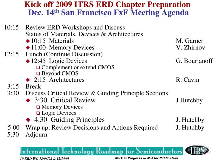 10:15Review ERD Workshops and Discuss