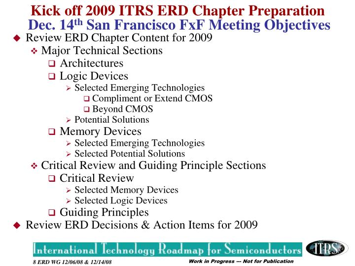 Review ERD Chapter Content for 2009